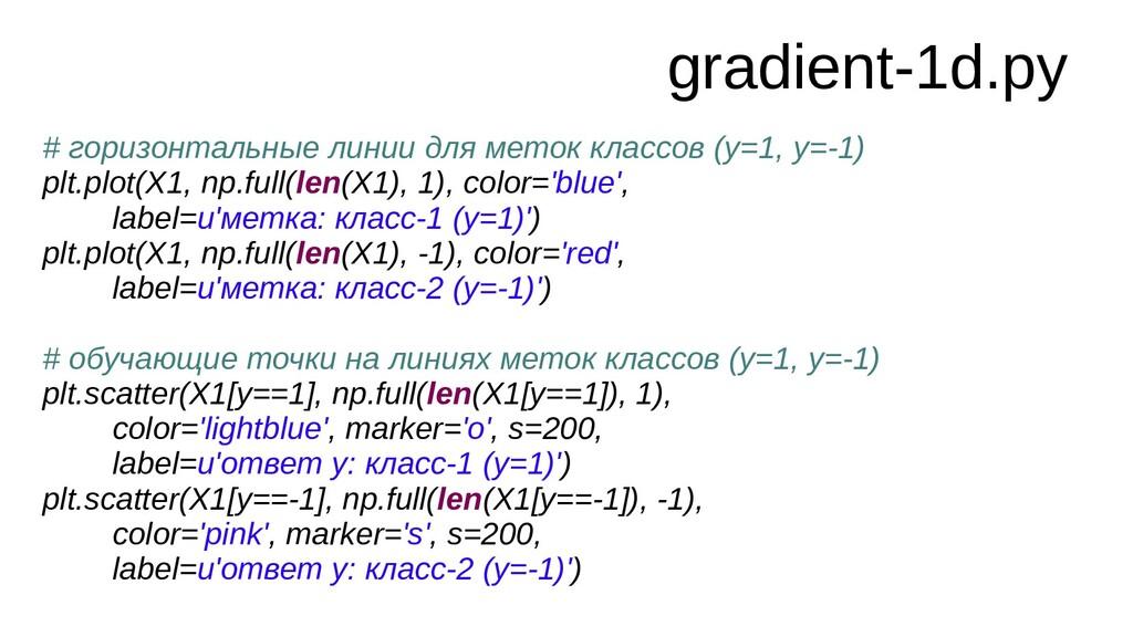 gradient-1d.py # горизонтальные линии для меток...