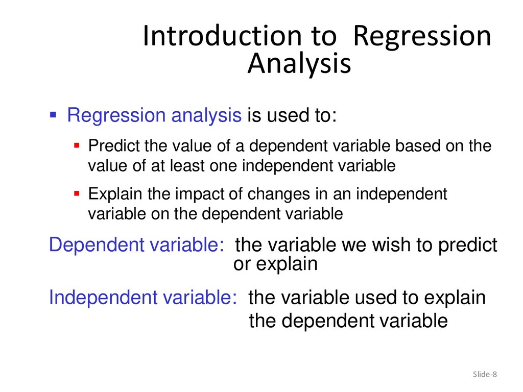 Introduction to Regression Analysis Slide-8  R...