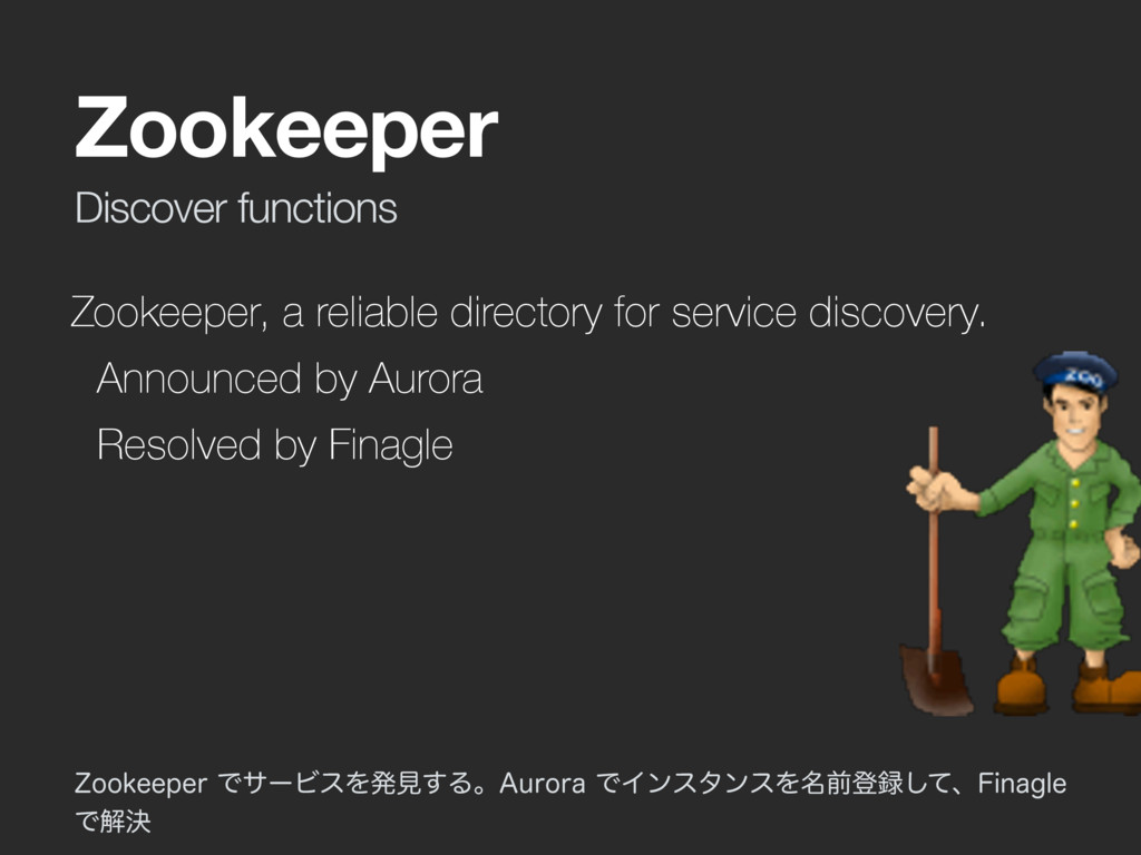 Discover functions Zookeeper Zookeeper, a relia...
