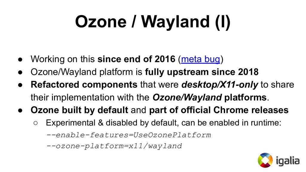 Ozone / Wayland (I) ● Working on this since end...