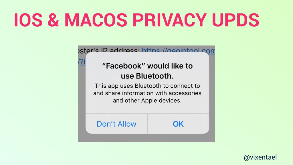@vixentael IOS & MACOS PRIVACY UPDS
