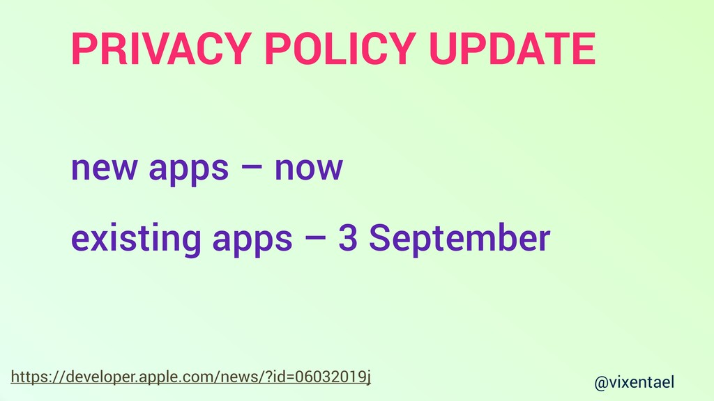 @vixentael PRIVACY POLICY UPDATE https://develo...