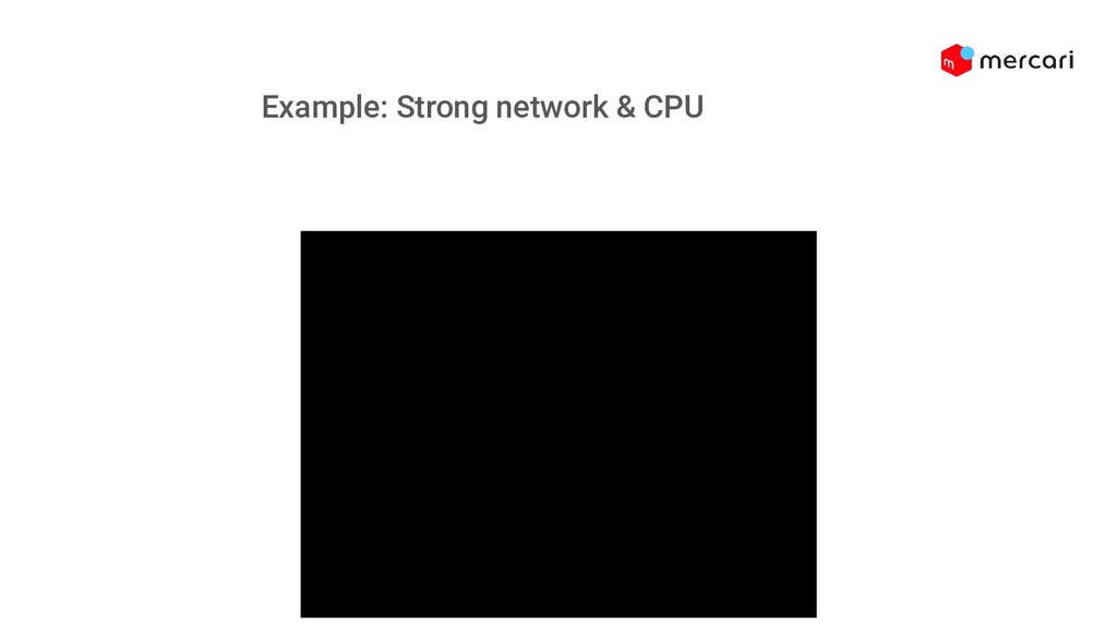 Example: Strong network & CPU Example: Strong n...