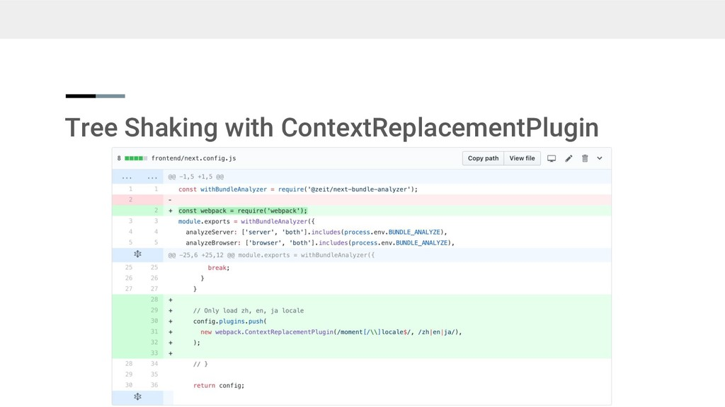Tree Shaking with ContextReplacementPlugin