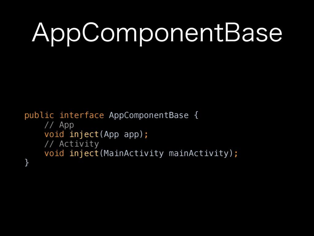 """""""QQ$PNQPOFOU#BTF public interface AppComponentB..."""