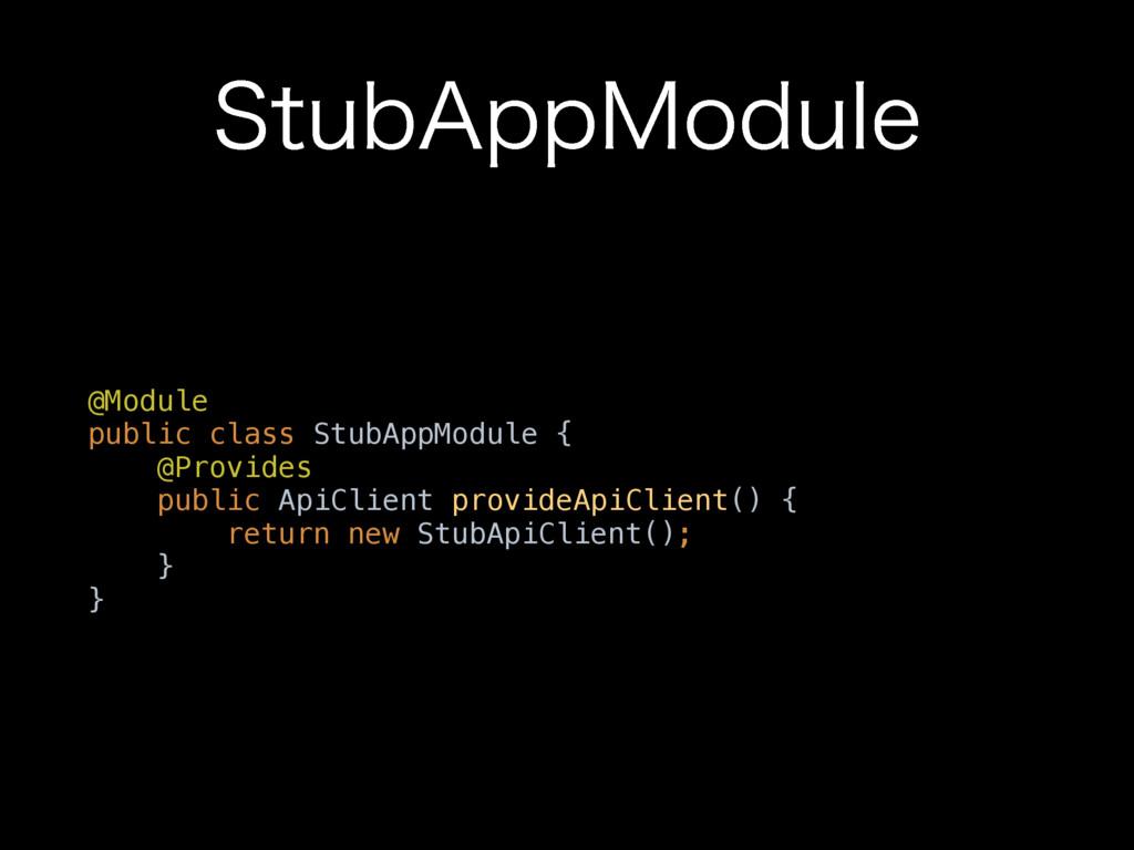 "4UVC""QQ.PEVMF @Module public class StubAppModu..."