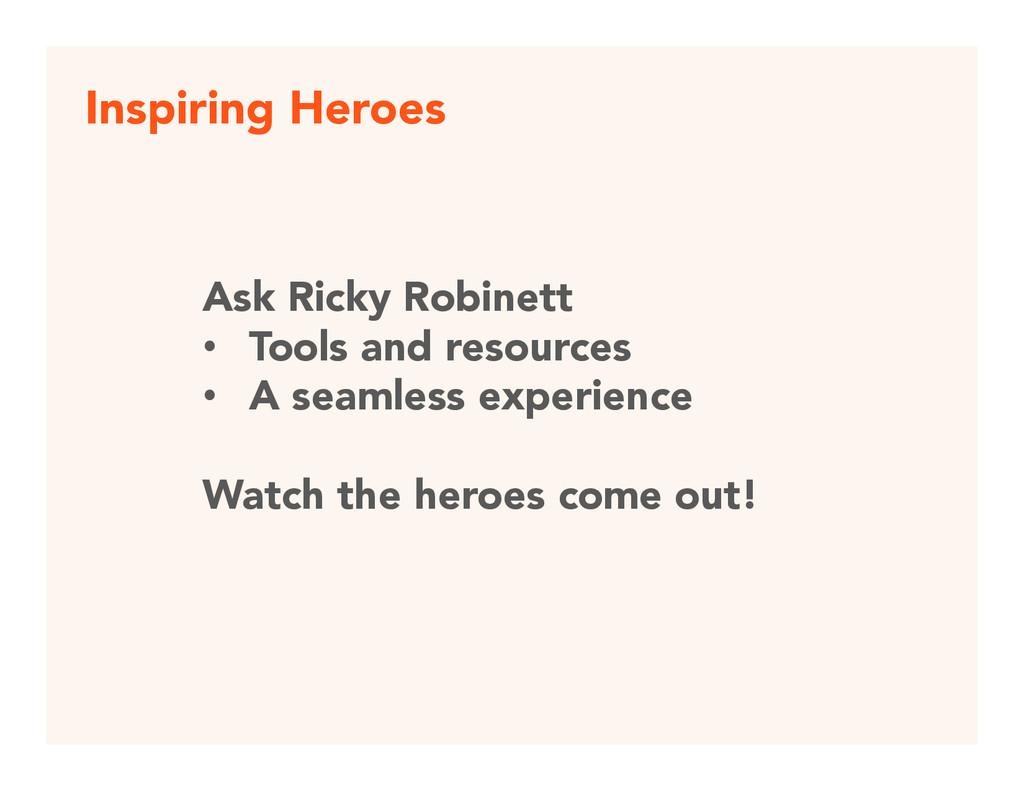 Inspiring Heroes Ask Ricky Robinett • Tools ...