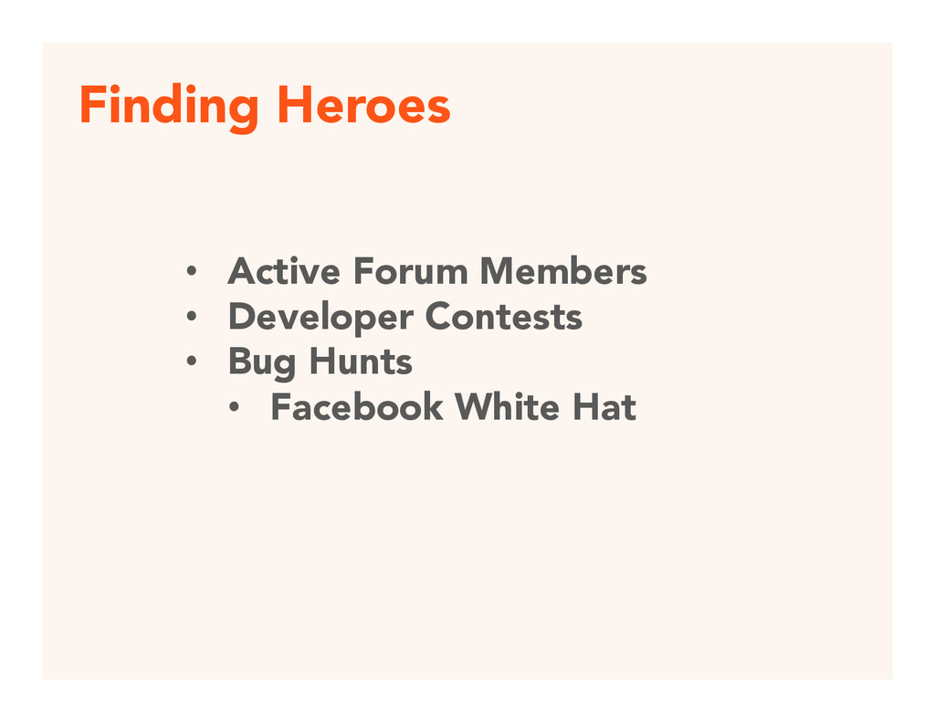 Finding Heroes