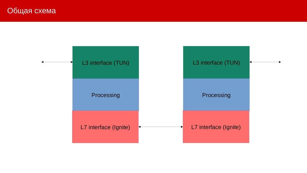 Общая схема L3 interface (TUN) Processing L7 in...