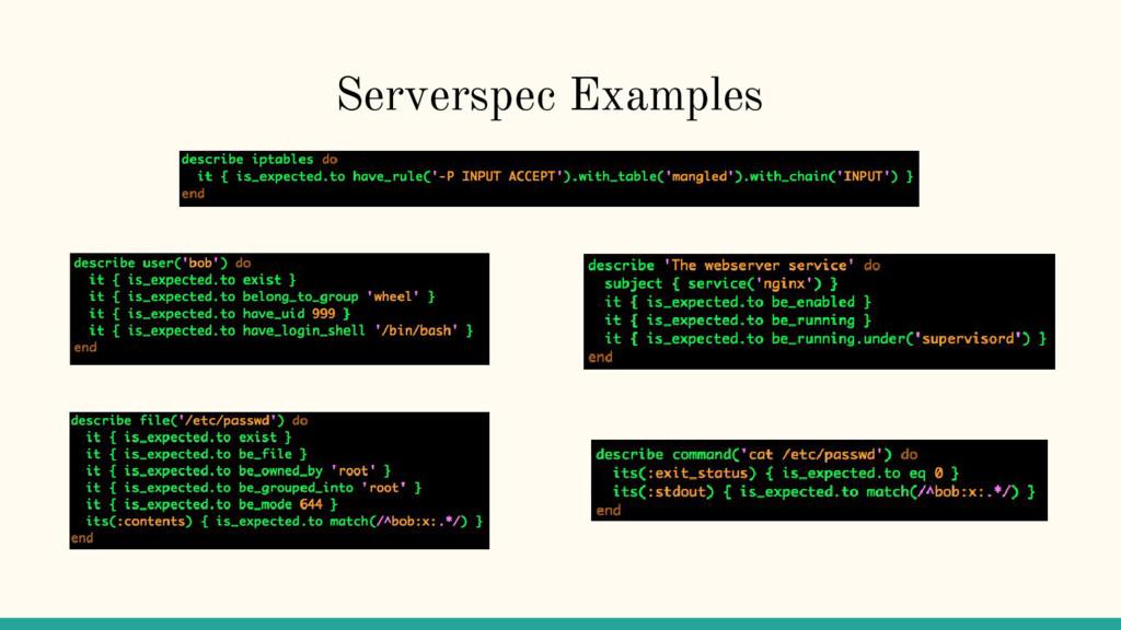 Serverspec Examples