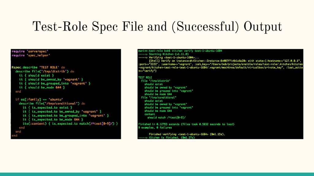 Test-Role Spec File and (Successful) Output