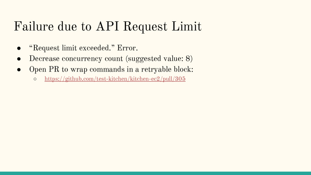 "Failure due to API Request Limit ● ""Request lim..."