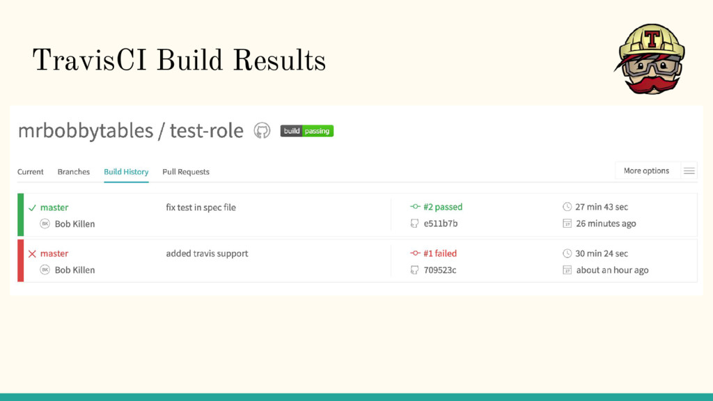 TravisCI Build Results