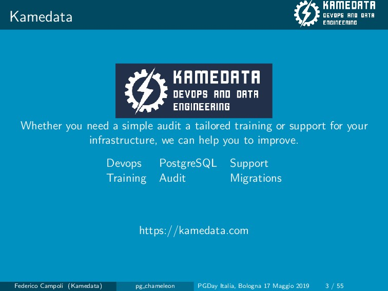 Kamedata Whether you need a simple audit a tail...