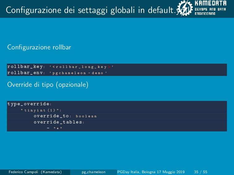 Configurazione dei settaggi globali in default.y...