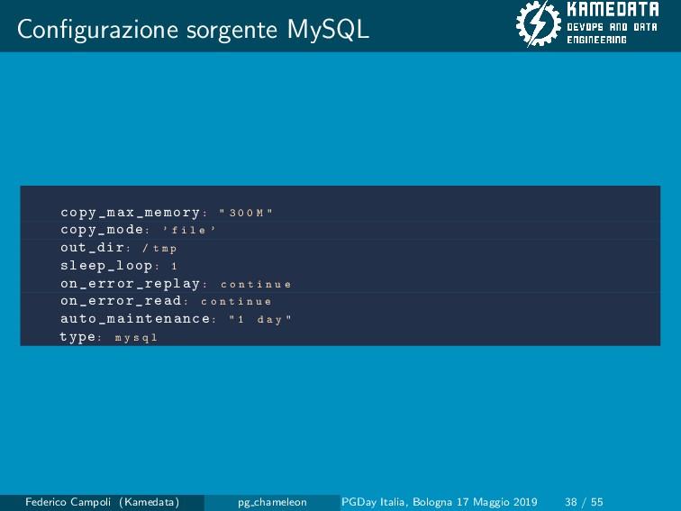 """Configurazione sorgente MySQL copy_max_memory: """"..."""