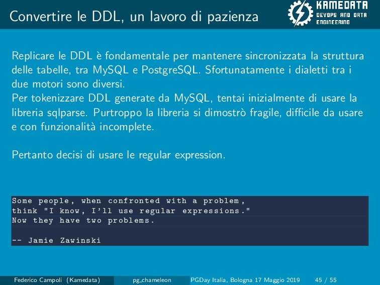 Convertire le DDL, un lavoro di pazienza Replic...