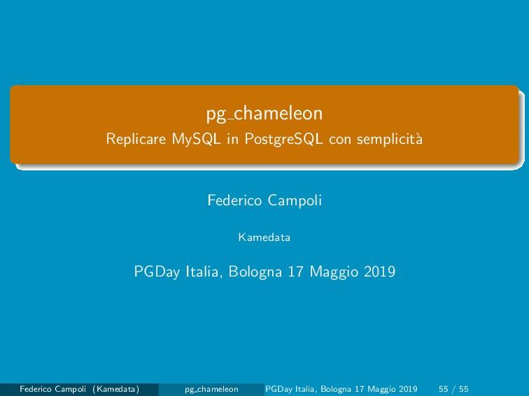 pg chameleon Replicare MySQL in PostgreSQL con ...