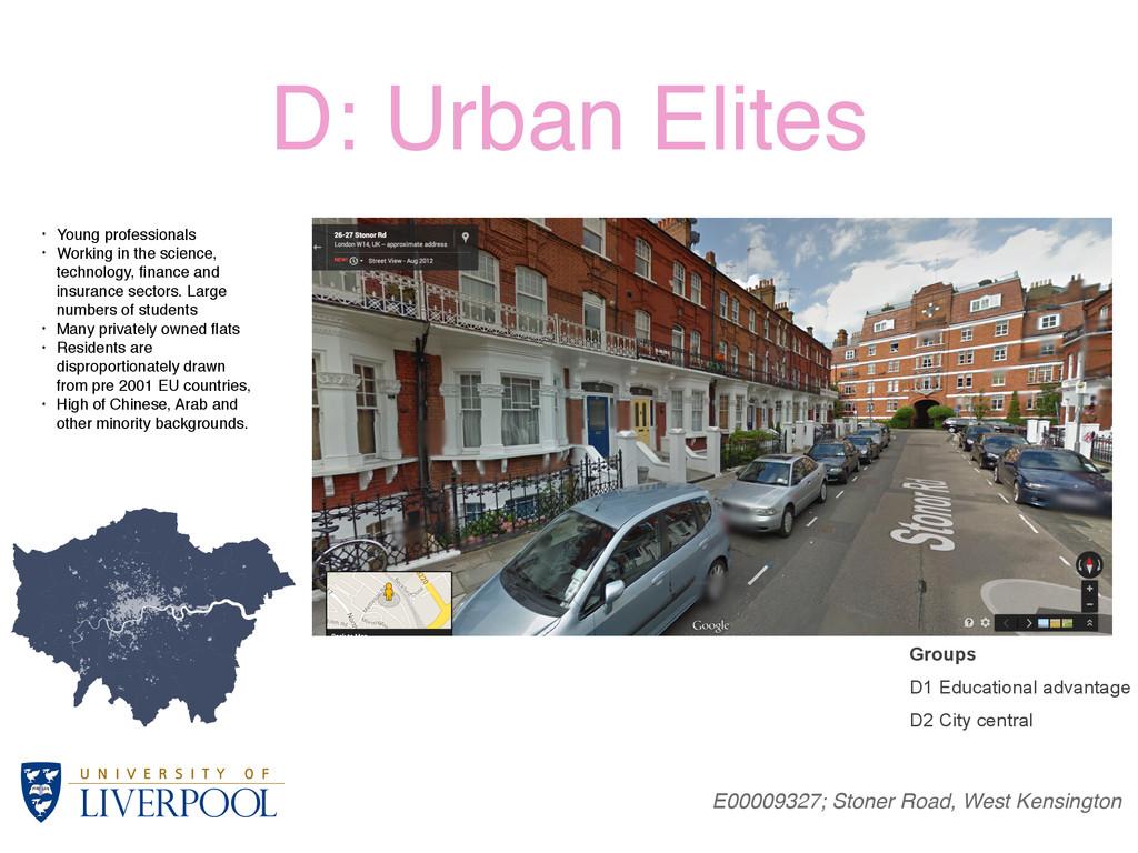 D: Urban Elites E00009327; Stoner Road, West Ke...