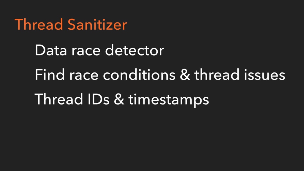 Thread Sanitizer Data race detector Find race c...