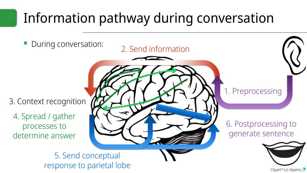 Information pathway during conversation ▪ Durin...