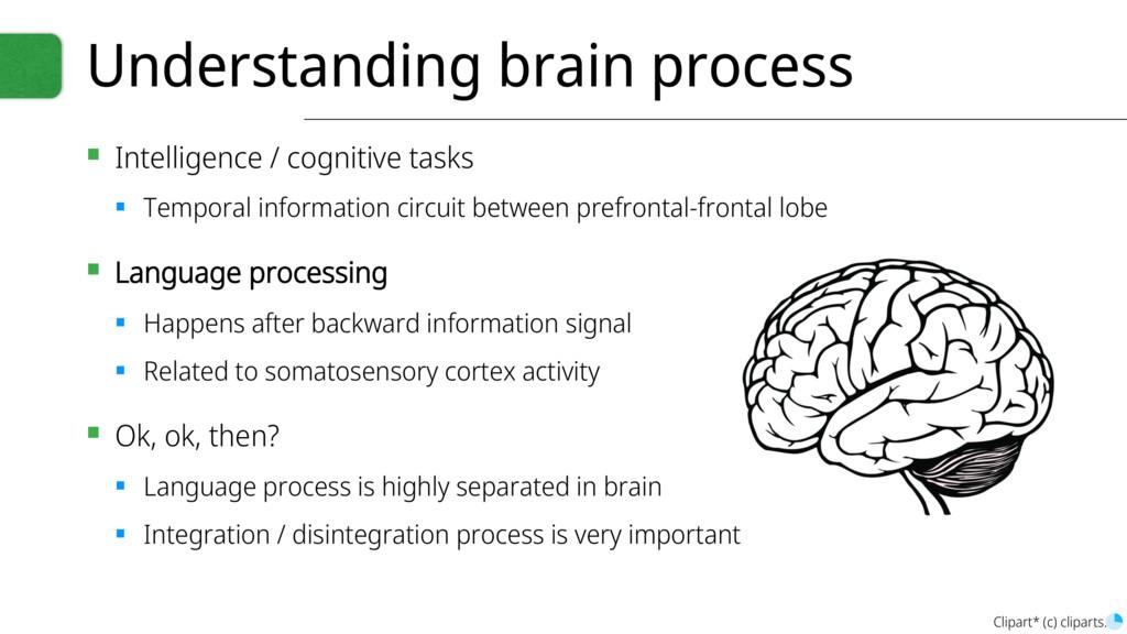 Understanding brain process ▪ Intelligence / co...