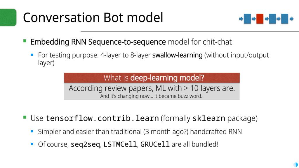 Conversation Bot model ▪ Embedding RNN Sequence...