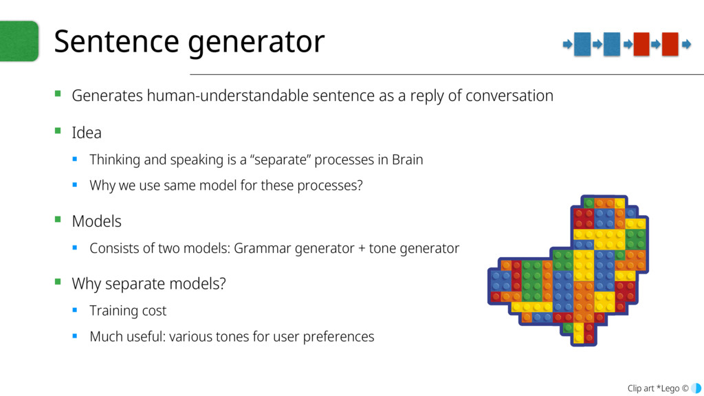 Sentence generator ▪ Generates human-understand...