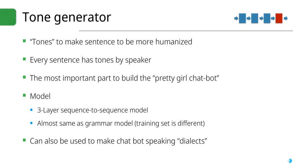 "Tone generator ▪ ""Tones"" to make sentence to be..."