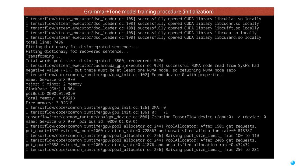 I tensorflow/stream_executor/dso_loader.cc:108]...