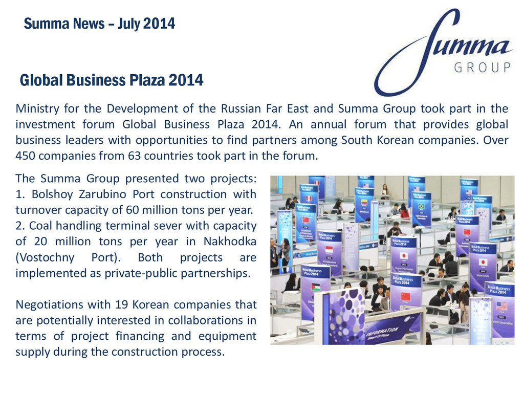 Global Business Plaza 2014 Ministry for the Dev...