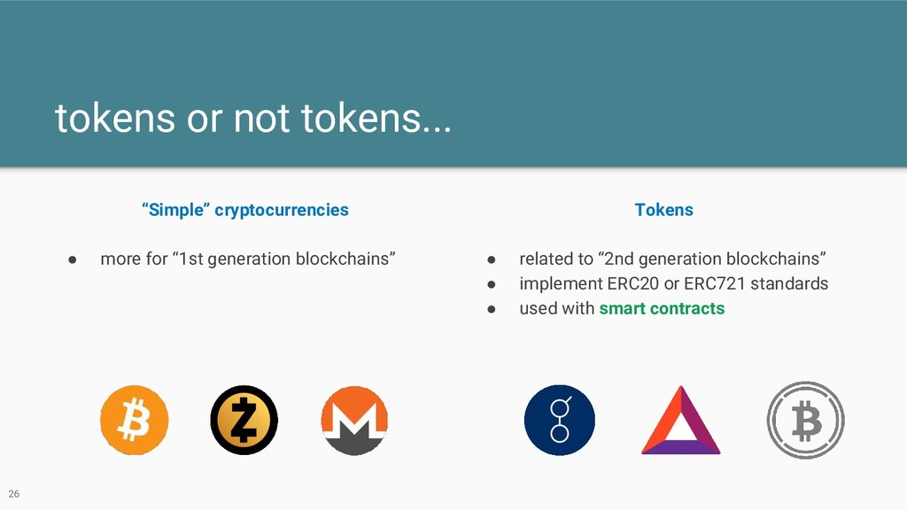 "tokens or not tokens... ""Simple"" cryptocurrenci..."