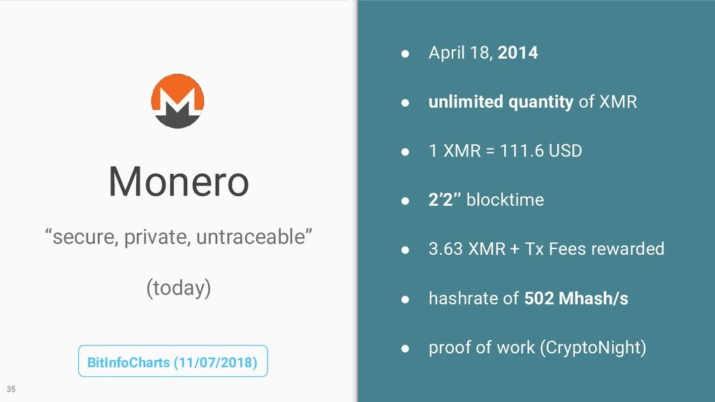 Monero ● April 18, 2014 ● unlimited quantity of...