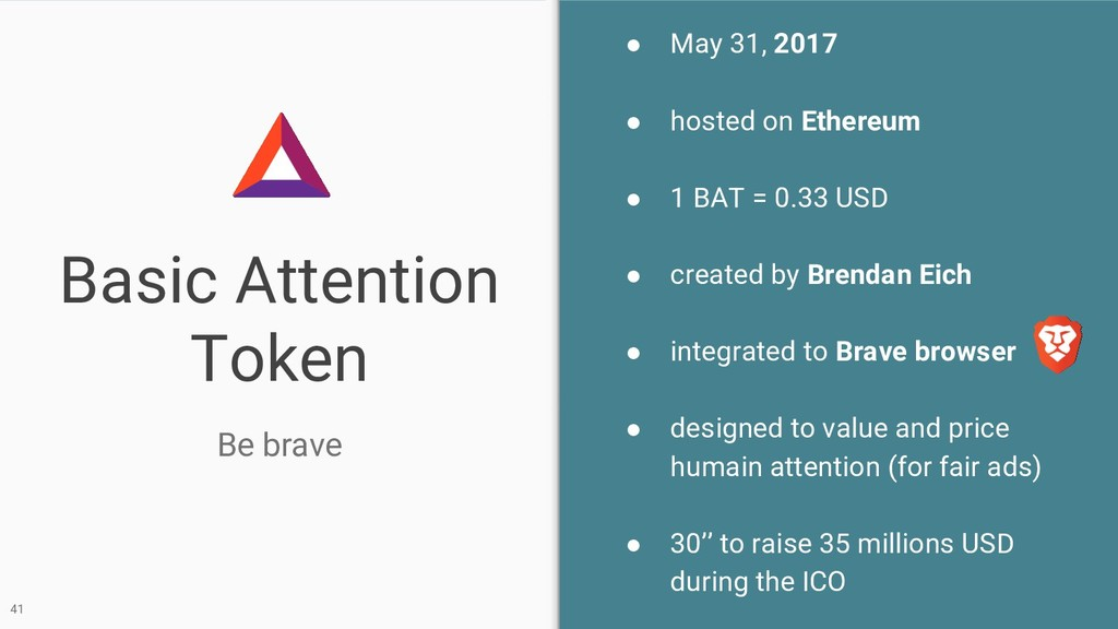 Basic Attention Token Be brave 41 ● May 31, 201...