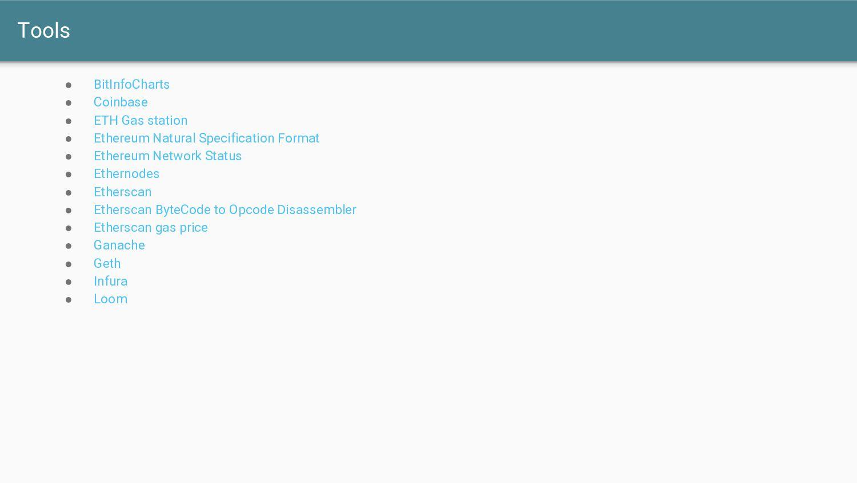 Tools ● BitInfoCharts ● Coinbase ● ETH Gas stat...