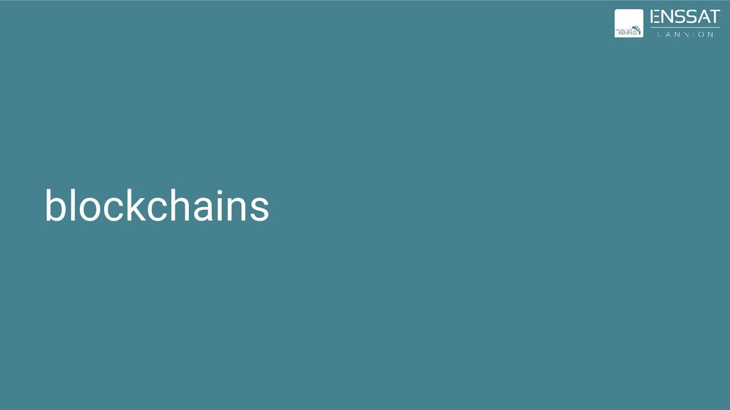 blockchains