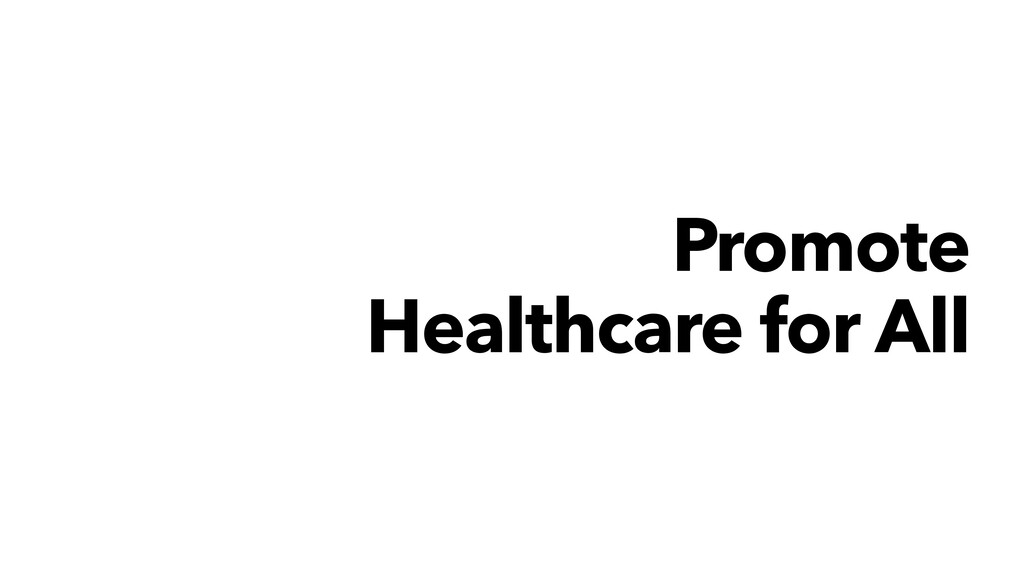 Promote Healthcare for All