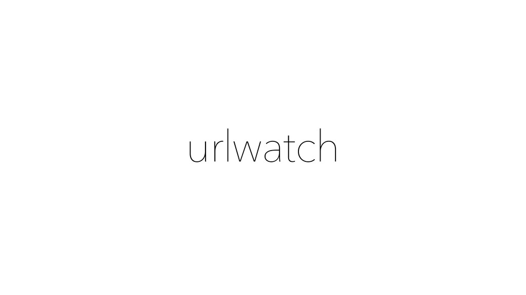 urlwatch