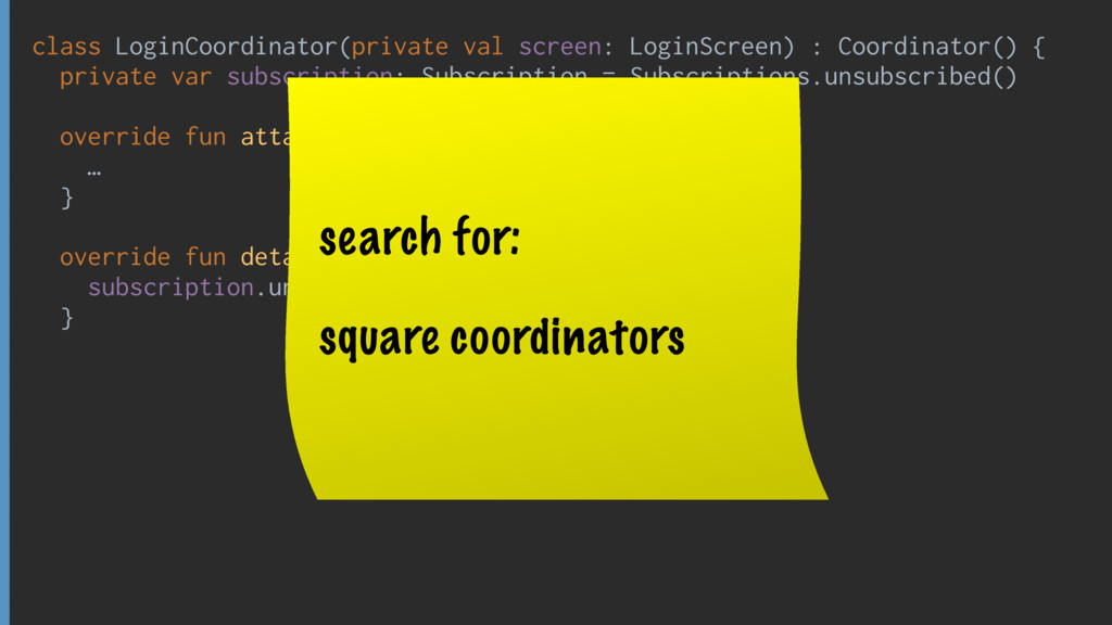 class LoginCoordinator(private val screen: Logi...