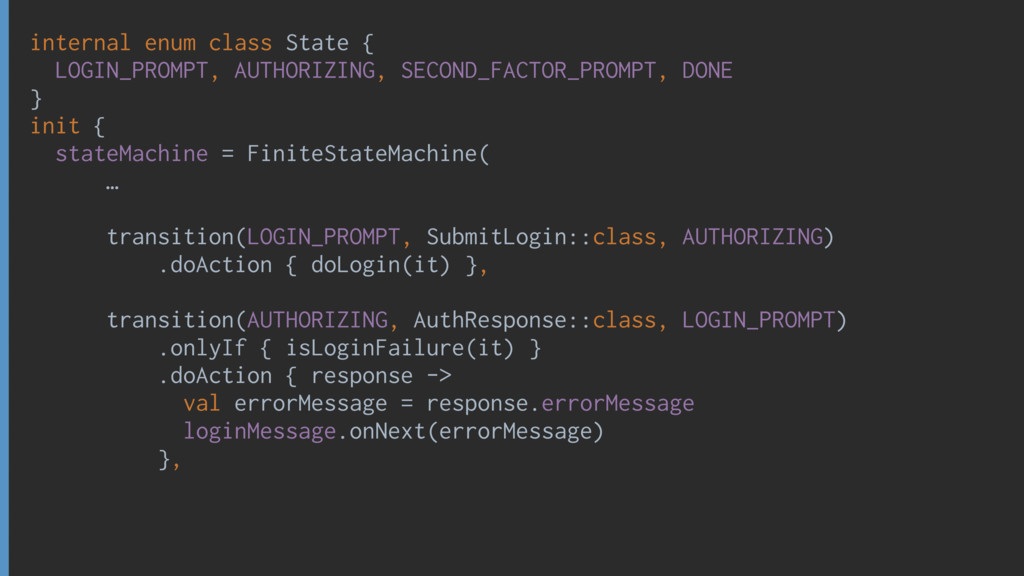 internal enum class State { LOGIN_PROMPT, AUTHO...