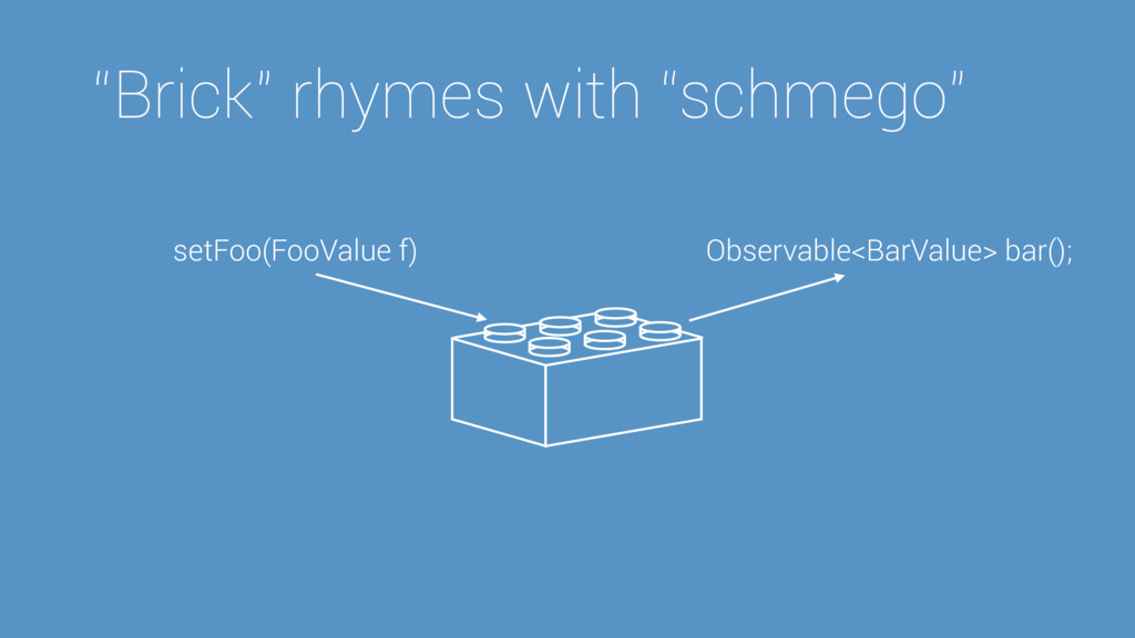"""Brick"" rhymes with ""schmego"" setFoo(FooValue f..."