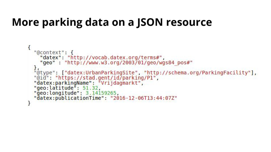 More parking data on a JSON resource