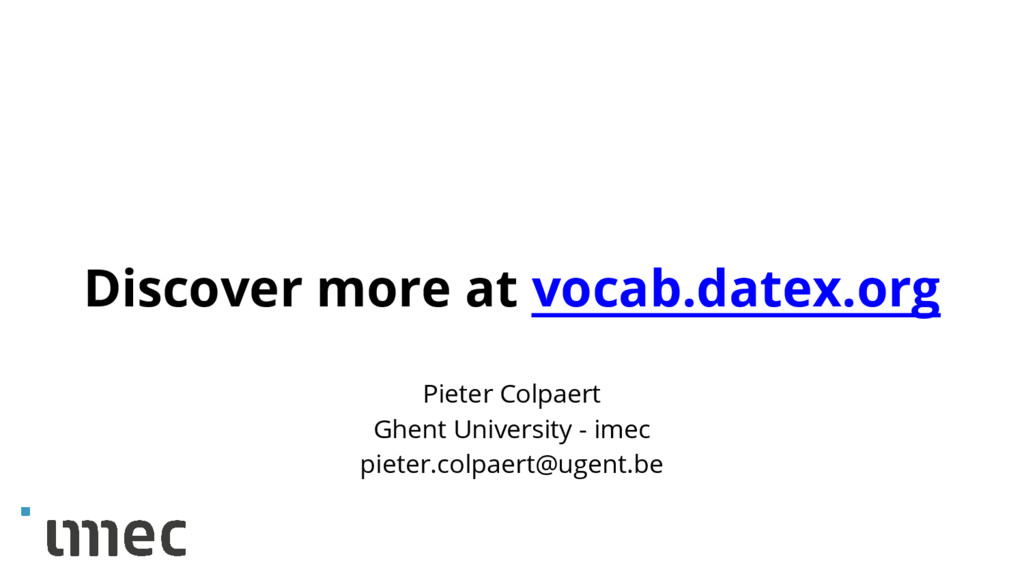 Discover more at vocab.datex.org Pieter Colpaer...