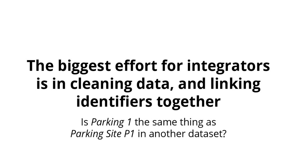The biggest effort for integrators is in cleani...