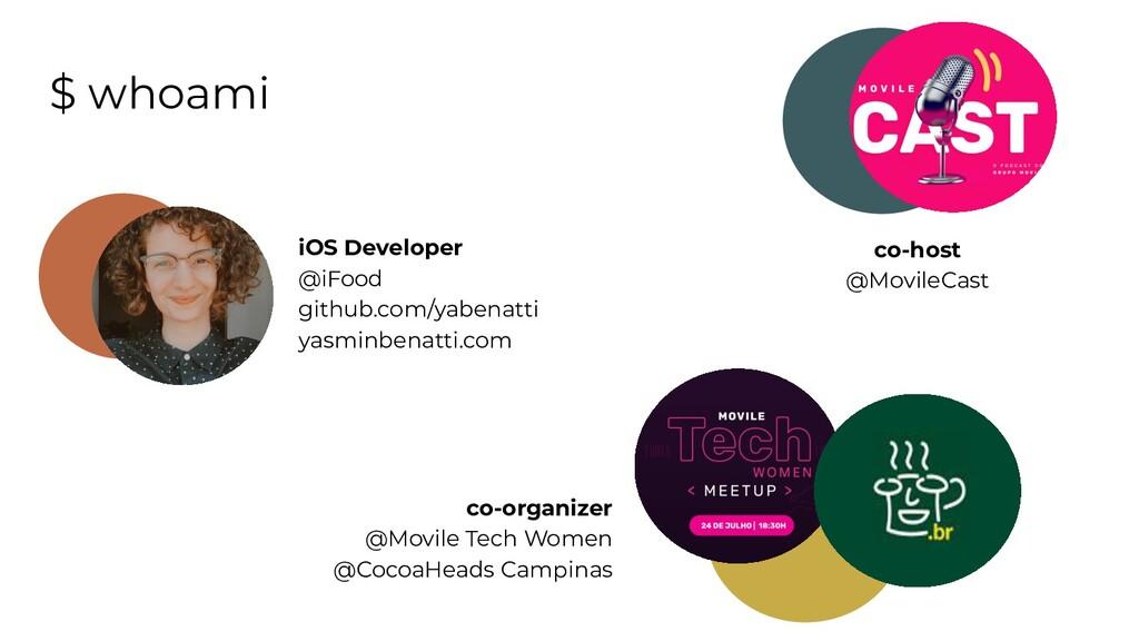 $ whoami iOS Developer @iFood github.com/yabena...