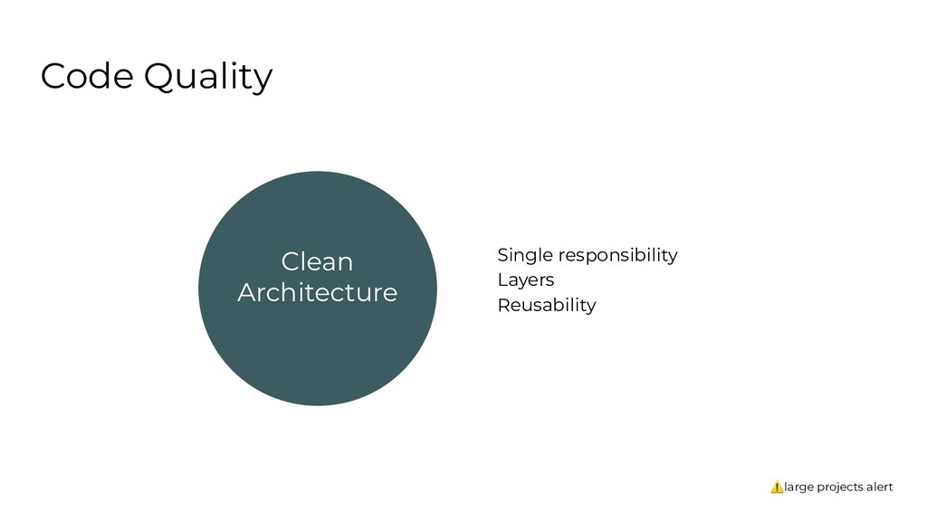 Code Quality Clean Architecture Single responsi...