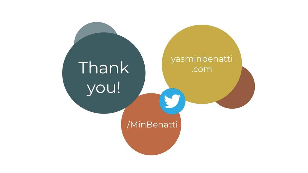Thank you! /MinBenatti yasminbenatti .com