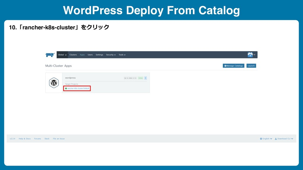 WordPress Deploy From Catalog 10.「rancher-k8s-c...