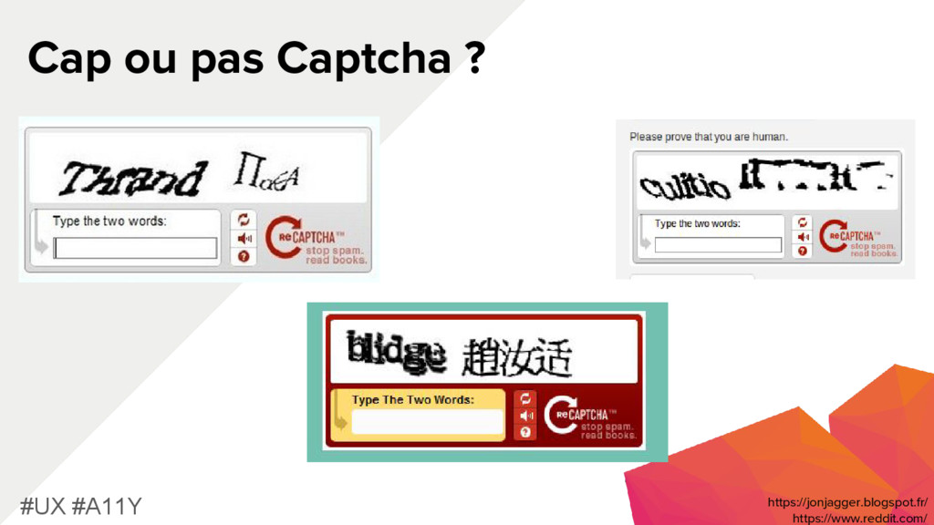 Cap ou pas Captcha ? #UX #A11Y https://www.redd...