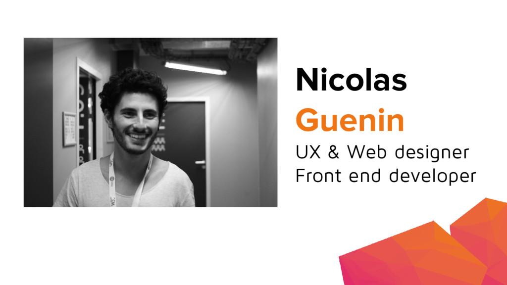 Nicolas Guenin UX & Web designer Front end deve...